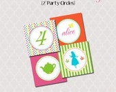 """Printable 2"""" Party Circles - Wonderland Tea Party Collection"""