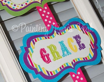 Printable Fancy Welcome Sign - Carnival Ride Party Collection