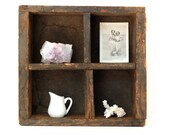 Ultra Rustic Vintage Wooden Shipping Crate -Divided Box-Display/Curio Box