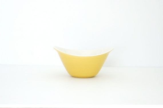 Vintage Sunny Yellow Serving Bowl
