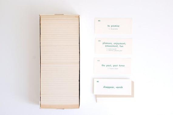 Whole Box of Vintage German/ English Language Vocabulary Flash Cards