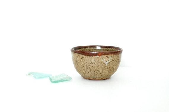 Little Earthy Colored Handmade Pottery Trinket Bowl
