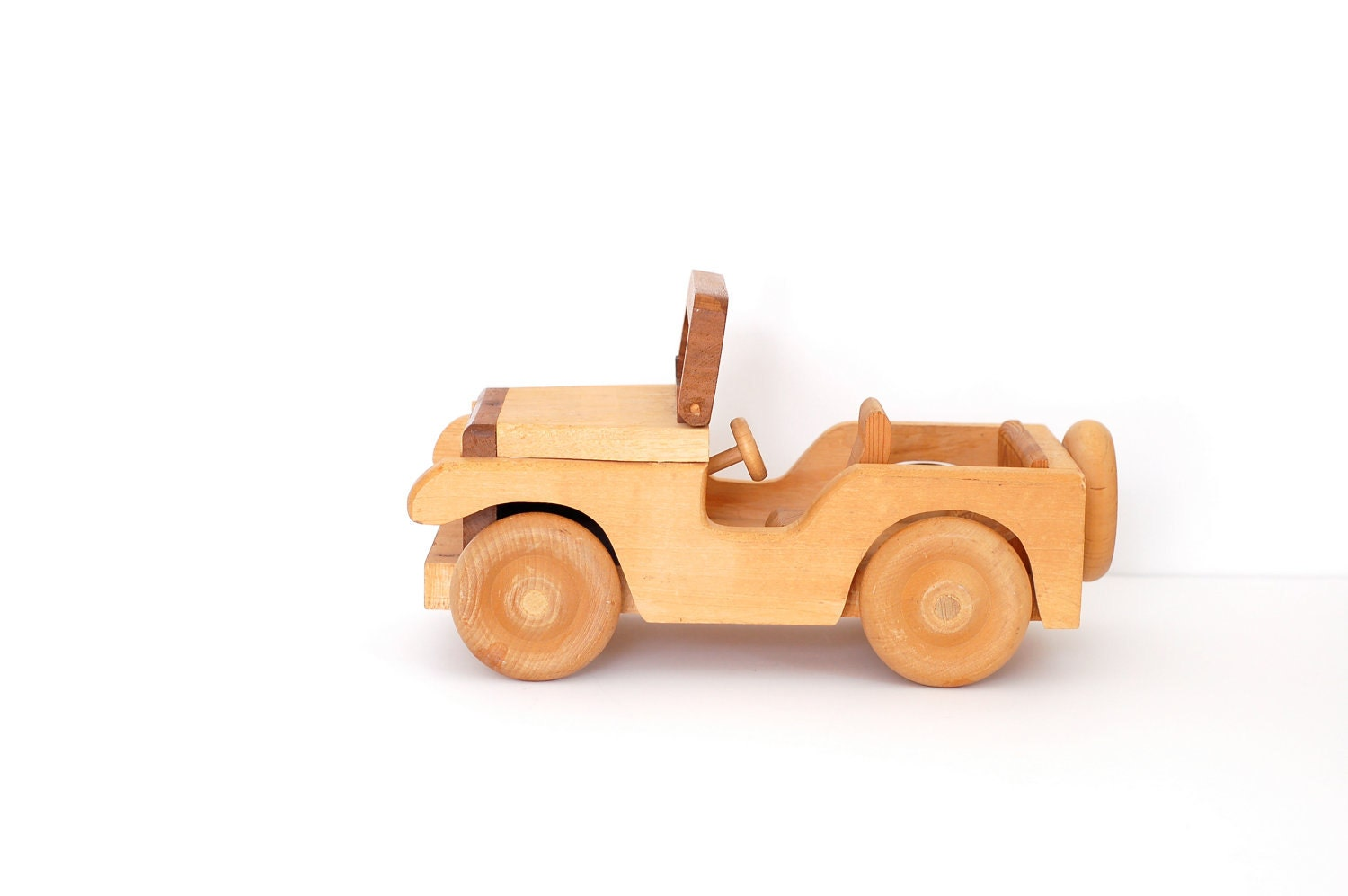 RESERVED FOR CAROL Vintage Toy Wood Jeep by Surfaced on Etsy