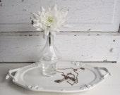 White tray ironstone redcliff platter