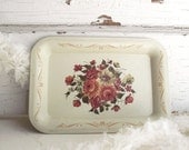 litho tray dish for jewlery pretty little floral tin litho tray