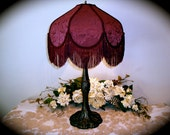 "Victorian Lamp 29"" tall and 16"" wide in Burgundy color"