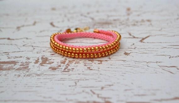 Custom Crochet Double Wrap Friendship Bracelet