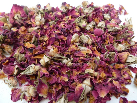 Dried Rose buds - Organic Rose Buds Petals - Medicinal Herbs