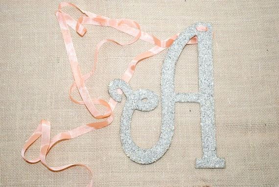 Custom Listing for Emily - Handcut German Glass Glitter Letter