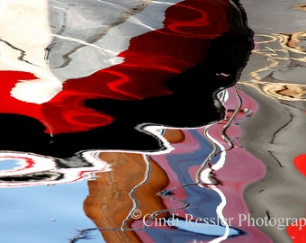 Boat Reflection, Fine Art Photography, Abstract Photography, Nautical Photography