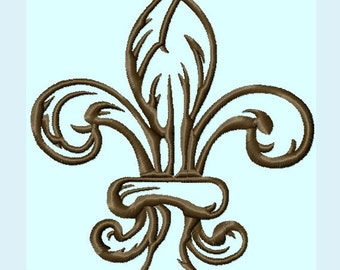 Elegant Fleur De Lis Embroidery Designs 3 sizes   INSTANT DOWNLOAD