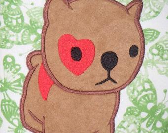 Dog Puppy Bulldog Red Heart APPLIQUE Embroidery Designs