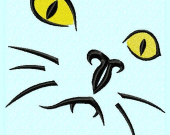 Cat Face Embroidery Designs