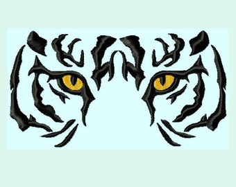 Tiger Eyes Embroidery Designs 6 sizes INSTANT DOWNLOAD