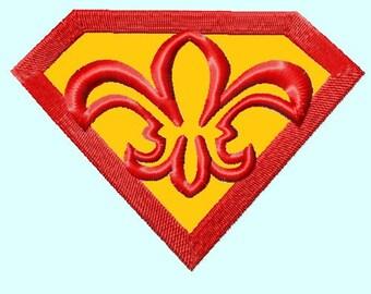 Super Fleur de Lis Embroidery APPLIQUE design 3 sizes