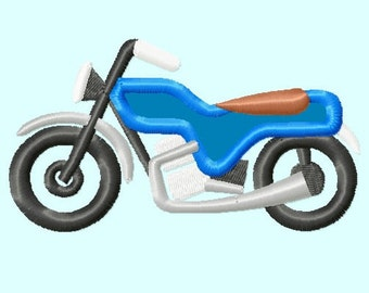 Motorcycle APPLIQUE Embroidery Design INSTANT DOWNLOAD