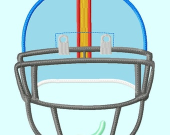 Front Football Helmet  Applique Embroidery Design,  3 sizes  INSTANT DOWNLOAD