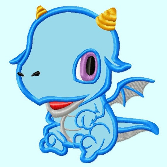 Baby Dragon APPLIQUE Embroidery Designs ) INSTANT DOWNLOAD