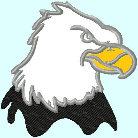 Bald Eagle Head Applique Embroidery Designs 3 sizes    INSTANT DOWNLOAD