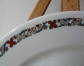 Warwick China, Peasant pattern, Restaurant ware,  Plate