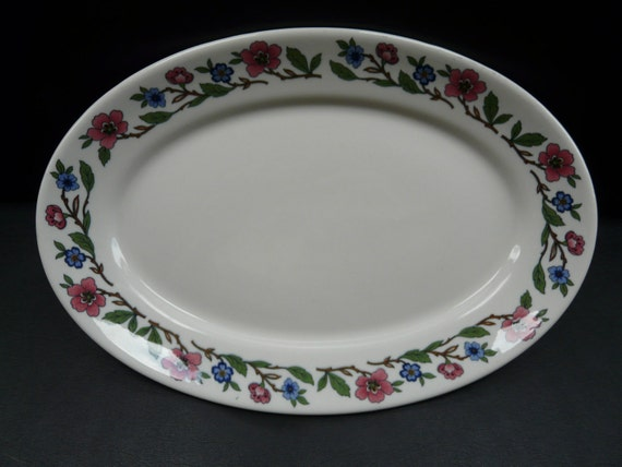 Sterling China Platter, floral pattern STR54
