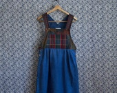 Flannel Overall Vintage Dress