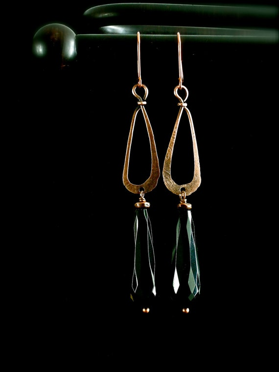 Onyx and Copper Every Day Funk Earrings