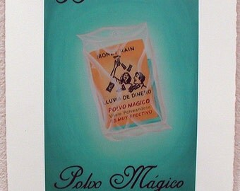Polvo Mágico, Magic Powder, Rain of Money, Loteria Art Print