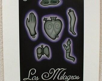 Los Milagros, The Miracles, Loteria Art Print