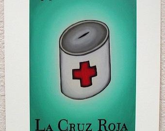 La Cruz Roja, The Red Cross, Loteria Art Print