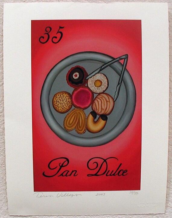 Pan Dulce, Sweet Breads, Pastries, Loteria Art Print