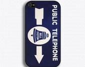 Vintage Public Telephone Sign - iPhone 4 Case, iPhone 4s Case, iPhone 4 Hard Case, iPhone Case