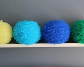 16 inch chiffon Fabric Petal Pom fabric bloom ball for your home or nursery - ready to ship