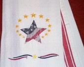 Patriotic Star on Vintage-style Kitchen Towel