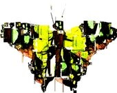 Yellow Butterfly in Fragments T-Shirt
