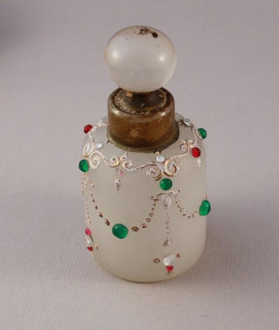 Antique stopper bottle, perfume bottle
