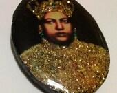 The Royal Touch Rastafari Badge of  Empress Menen Crowned