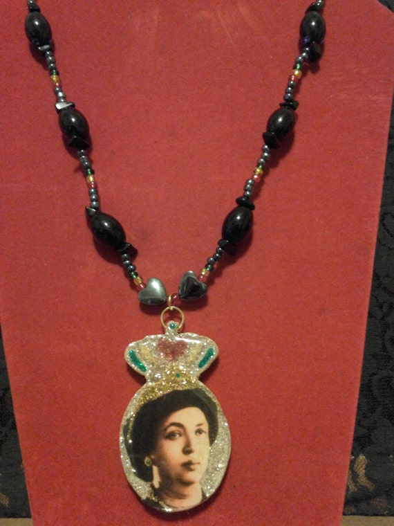 The Royal Touch Rastafari Double Sided Pendant on Beaded Necklace