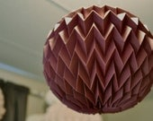 "Hanging decorative folded paper ""bubble"" ball - PURPLE"