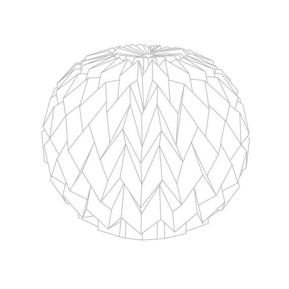 """Custom Order for Emmeline: Hanging decorative folded paper """"bubble"""" balls"""