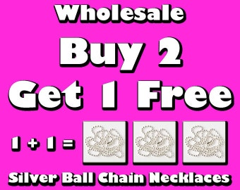1000 Free Shipping - Wholesale - Ball Chain Necklaces for Bottle Caps, Bottle Cap Necklace Supplies, Glass Tile Pendant, Scrabble, Dog Tags