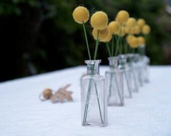Craspedia Wedding Decorations, Wedding Table Flowers, Bright Yellow Felt Flowers, Country Rustic Bride Woodland Wedding
