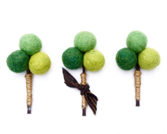 Lapel Pin Boutonniere Button Hole, Rustic Wedding for the Groom, Rustic Green Moss Craspedia Flowers and Burlap, Men's Men - 3