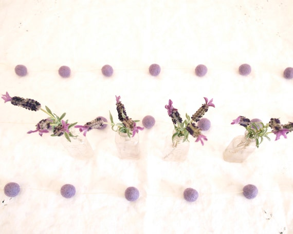 Purple Wedding Garland, Bunting Decoration Lilac Lavender Country Bohemian Bride Cake Table Photo Prop Banner