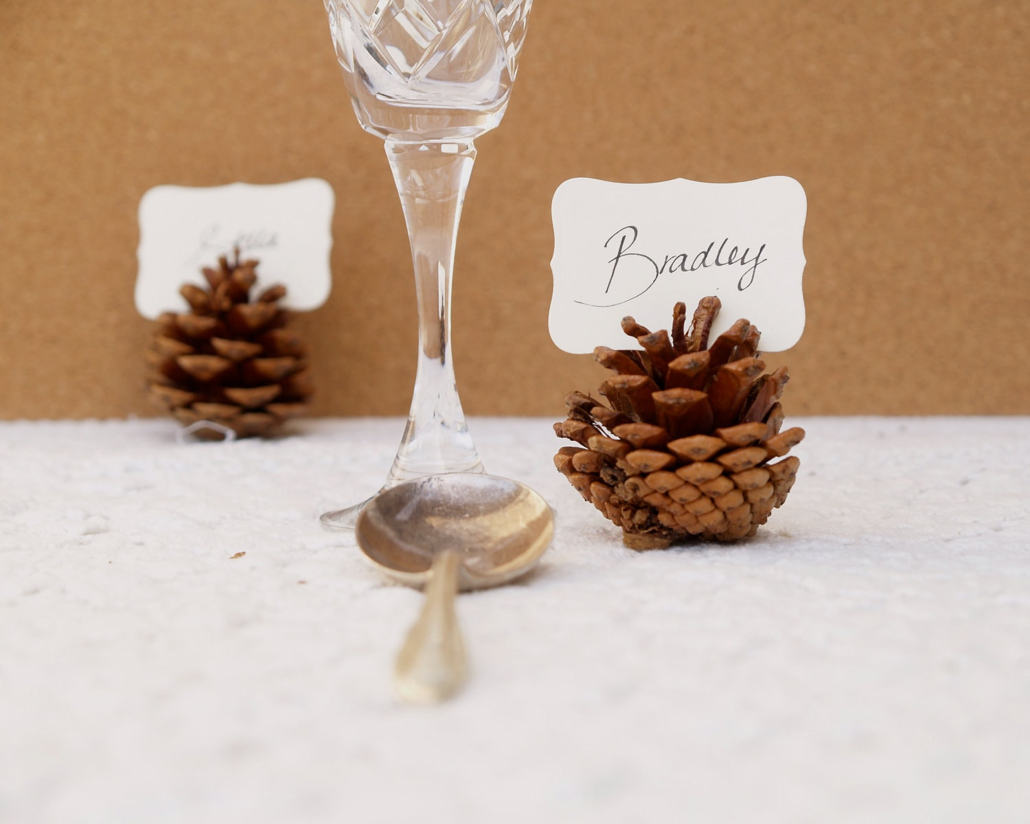 wedding place cards 100 pine cone holders by fairyfolkweddings. Black Bedroom Furniture Sets. Home Design Ideas