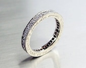 Diamond eternity ring with engraving on the side, white gold, diamond eternity, wedding band, unique, gold ring, diamond wedding, engagement