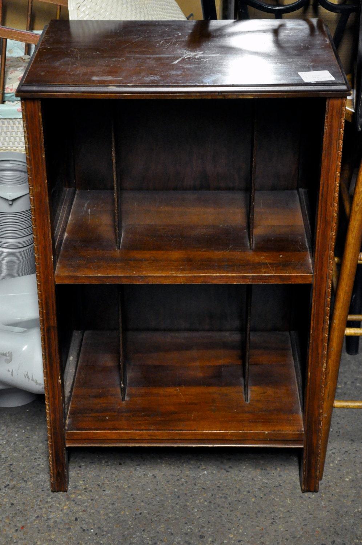 Vintage Wooden Lp Record Cabinet
