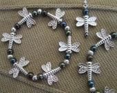 Dragonfly:  Metal Bracelet & Earrings