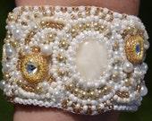 """Elegant White & Amber Bracelet """"Gracy"""""""