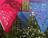 4th of July decor, red white and blue banner, Americana